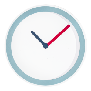 cartoon clock showing you how to save time